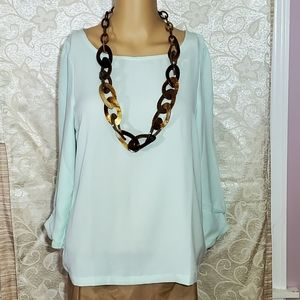 LC. Lauren Conrad ~ Women's Long Sleeve Blouse